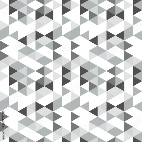 Geometric abstract pattern with triangles in muted  retro colors. - 177743919