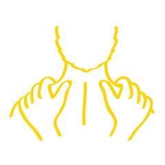 Handgezeichnetes Massage-Symbol in gelb