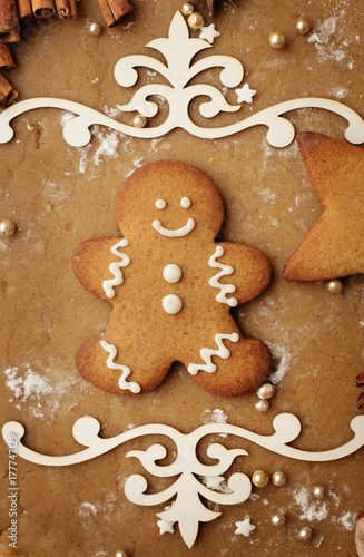christmas gingerbread cookies Poster
