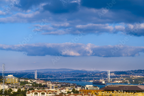 Clouds passing over the Bosphorus Poster