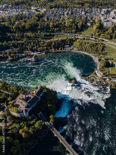 Fotobehang Zwart Rheinfall