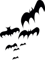 Bats Halloween Sticker Vintage Decoration
