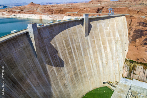 Fotobehang Arizona Glen Canyon Dam, Page, Arizona, USA