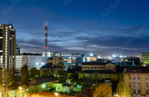 Urban panoramic view of Moscow  in the evening in Russia Poster