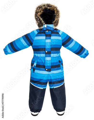 Poster Childrens snowsuit fall