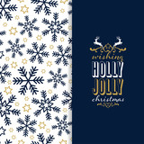 Christmas background with snowflakes and greetings - 177791317