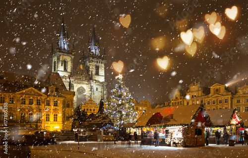 The Old Town Square at winter night. © Lukas Gojda