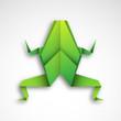 żaba origami wektor
