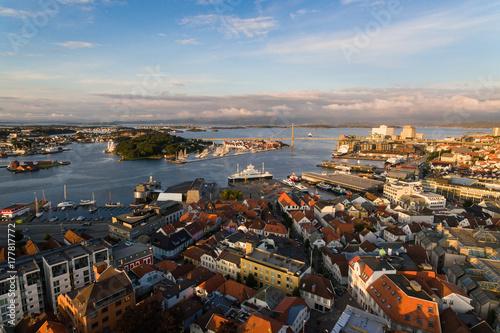 Keuken foto achterwand Antwerpen Stavanger city, top view
