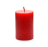 Extinguished red candle isolated on white background - 177823535