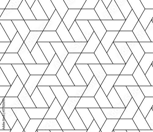 obraz lub plakat MODERN STYLISH TRELLIS TEXTURE. SEAMLESS VECTOR PATTERN. GEOMETRIC MONOCHROME BACKGROUND