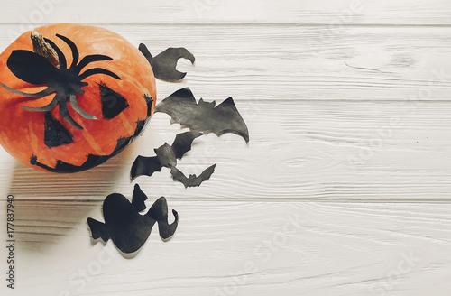 Poster halloween flat lay