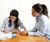 Women architects working in office - 177840709
