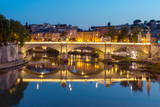Amazing Sunset view of Tiber River in city of Rome, Italy - 177842793