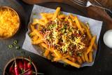 Spicy Chili Cheese Fries - 177848187