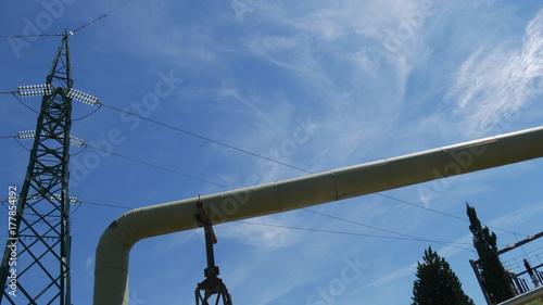 Deurstickers Toscane Energia geotermica tubi di trasporto del vapore in Toscana