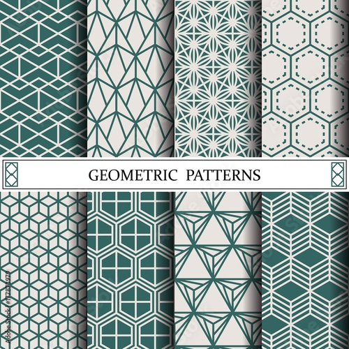 Fototapeta hexagon geometric vector pattern,pattern fills, web page, background, surface and textures