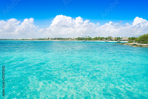 Foto op Canvas Groene koraal Akumal bay beach in Riviera Maya