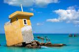 Holbox island beach Mexico hurricane ruins - 177883795