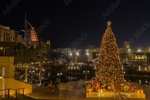 Deurstickers Dubai Christmas time in Dubai, UAE United Arab Emirates
