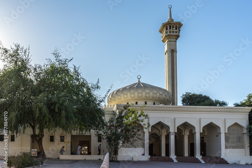 Tuinposter Dubai A mosque at Bastakiya historical district, UAE United Arab Emirates