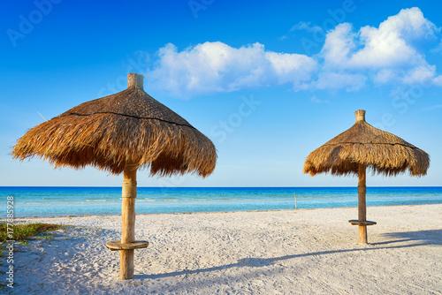 Poster Egypte Holbox Island beach sunroof Mexico