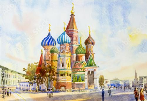 Katedra St. Basil w Plac Czerwony Rosja.