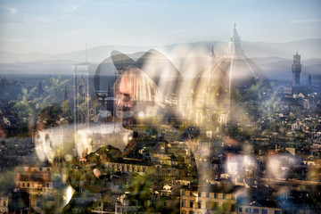 Photo overlay, Florence / Florence My city My love