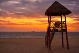 Isla Mujeres island Caribbean beach sunset - 177889730