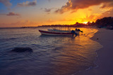 Mahahual Caribbean beach in Costa Maya - 177889916