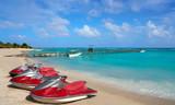 Mahahual Caribbean beach in Costa Maya - 177890536
