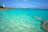 Mahahual Caribbean beach in Costa Maya - 177891124