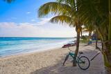 Mahahual Caribbean beach in Costa Maya - 177891313