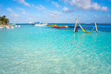 Mahahual Caribbean beach in Costa Maya - 177891570