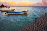 Mahahual Caribbean beach in Costa Maya - 177892306