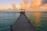 Mahahual Caribbean beach in Costa Maya - 177892339