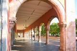 Merida city arcade arcs of Yucatan Mexico - 177895570