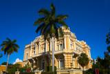 Merida yellow facade Paseo Montejo Yucatan - 177895755