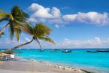 Playa del Carmen beach palm trees Mexico - 177896516