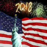 New Year 2018 fireworks in USA - 177911344