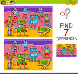 Find Differences Game  Robot Characters Wall Sticker