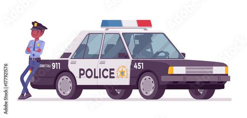 gamesageddon police car blue lizenzfreie fotos. Black Bedroom Furniture Sets. Home Design Ideas