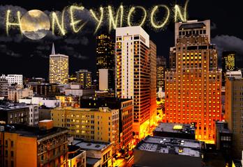 Honeymoon fireworks over San Francisco