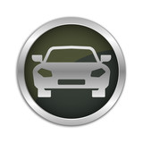 Button Set - dunkel mit silbernem Ring - Sportwagen
