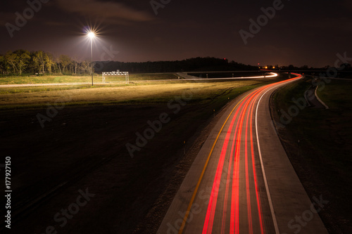 Foto op Canvas Nacht snelweg High Speed