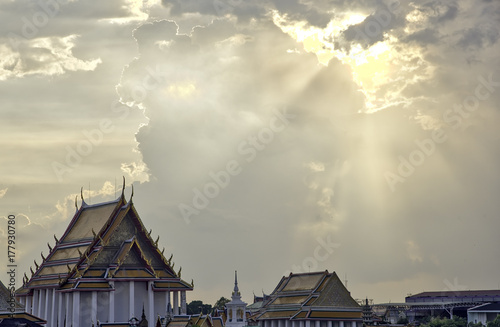 Chao Phraya river, sunset Poster
