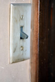 Old light switch on a wall of old house in Nagasaki prefecture, JAPAN. - 177938761