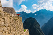 One of the structures on the site of Machu Picchu, Peru.