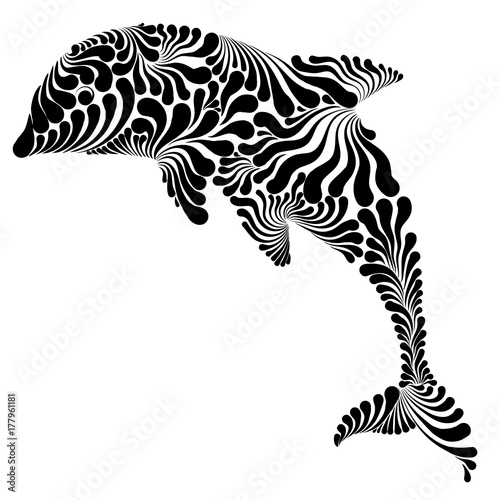Obraz Dolphin graphic illustration