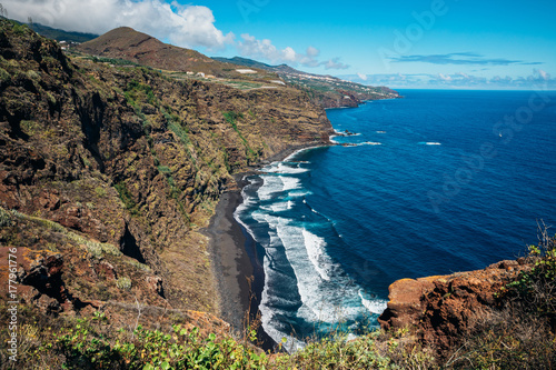 Foto op Plexiglas Canarische Eilanden Nogales Beach, Puntallana, La Palma, Santa Cruz de Tenerife, Canary Islands, Spain.